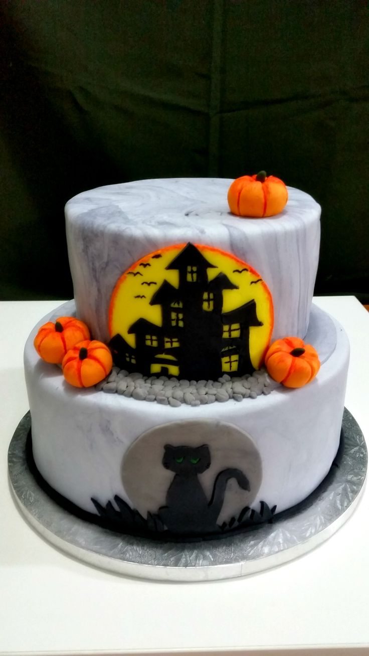Spooky-themed cake request from my two boys,  Sean and Casey's Nov. b-day <3