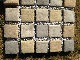 Cobbles Stones in, Tuscan, sandstone, terracotta, slate and plain concrete colour 100mm x 100mm
