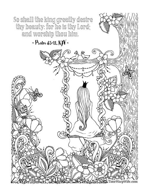 Esther Bible Study - Week 1 Coloring Page 2