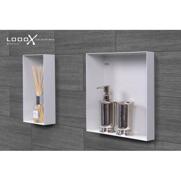 Looox Box in-opbouwnis 30x30cm wit (CBOX30W)   BadkamerXXL