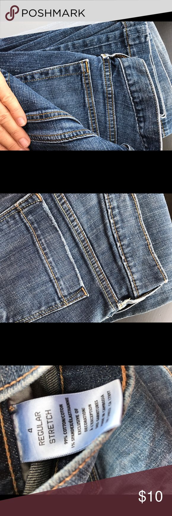 Old Navy Jeans 👖 Size 4 Stretch Good 😊 condition Size 4 Stretch cuffed bottoms adorable. Old Navy Jeans Boot Cut