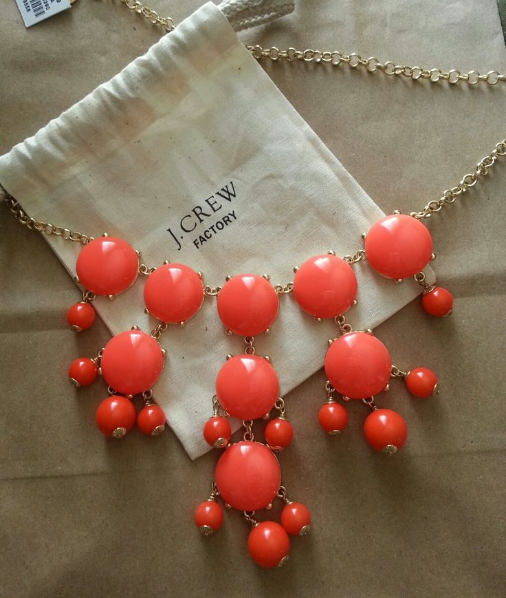 cantwithgabs:  scored this bubble necklace for $33 today! thank god for outlets ^_^