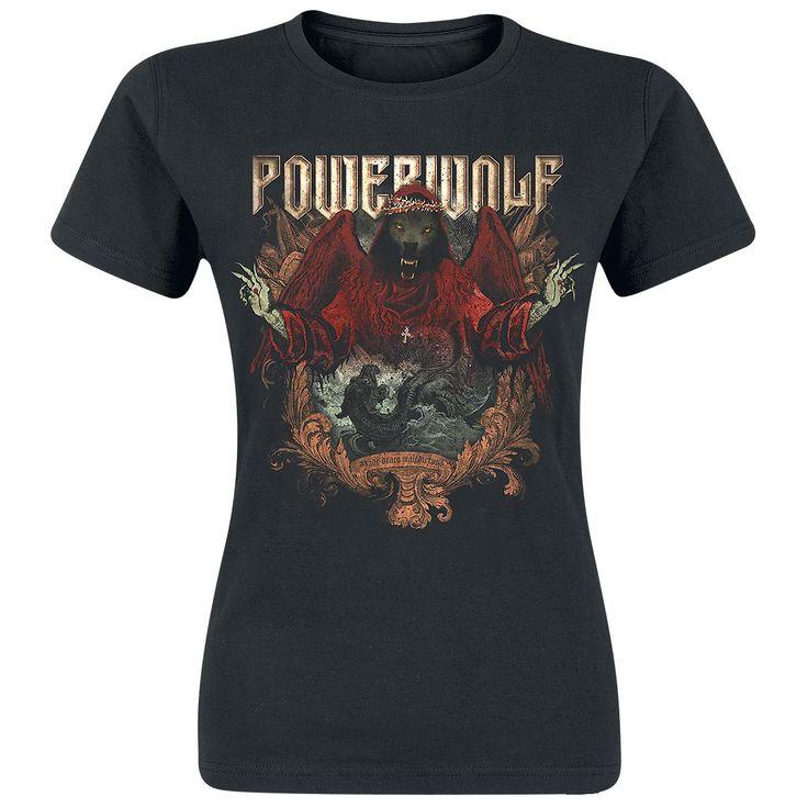 """Powerwolf T-Shirt, Frauen """"Sacred & Wild"""" schwarz • EMP"""