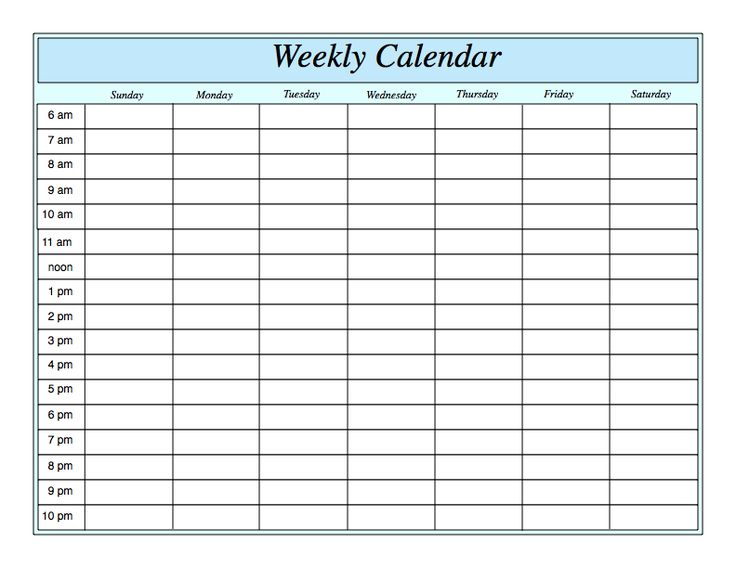 25 best ideas about Weekly calendar – 3 Week Calendar Template