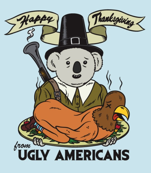 Doug celebrating Thanksgiving.