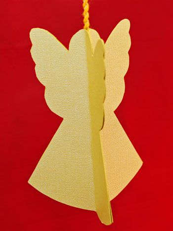 Fun and easy, this little folded paper angel makes a great group project for families, church groups or senior centers.