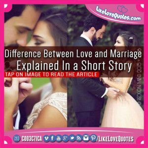 Difference Between Love and Marriage Explained