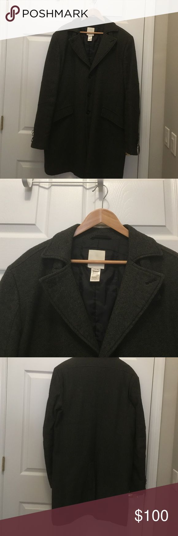 Excellent condition Diesel coat Beautiful so stylish  50% cotton 40% wool 10%nylon , mostly elegant stylish coat size Xl with a lot hi end detailing , color dark , between dark green and black. With any items for men you get a present 🎁 Diesel Jackets & Coats Pea Coats