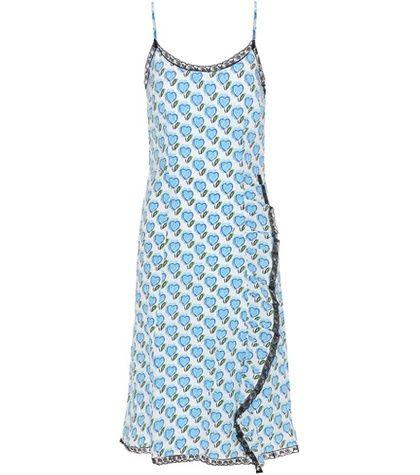 Prada Printed Silk Slip Dress For Spring-Summer 2017