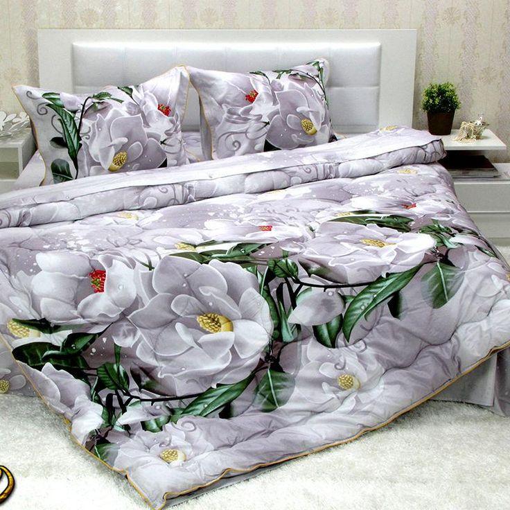 Completo lenzuola matrimoniale maxi con copripiumino satin di cotone 100% *Bellissima*