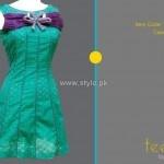 Teena by Hina Butt 2012 New Casual Wear Dresses 011: Dresses 003, Wear Dresses, Dresses 011