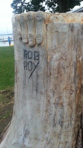 Wood sculpture. Hand made Rob Roy.