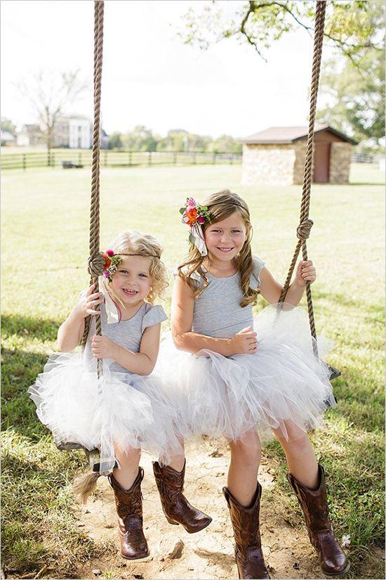 flower girl outfit ideas so cute in tutus #weddingchicks