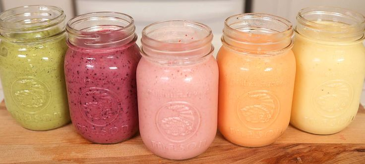 5 Delicious Summer Smoothies - Yellow Smoothie, Orange Smoothie, Pink Smoothie, Purple Smoothie, Green Smoothie