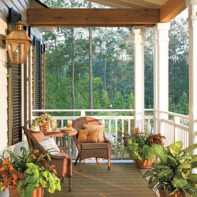 sunset covered porch