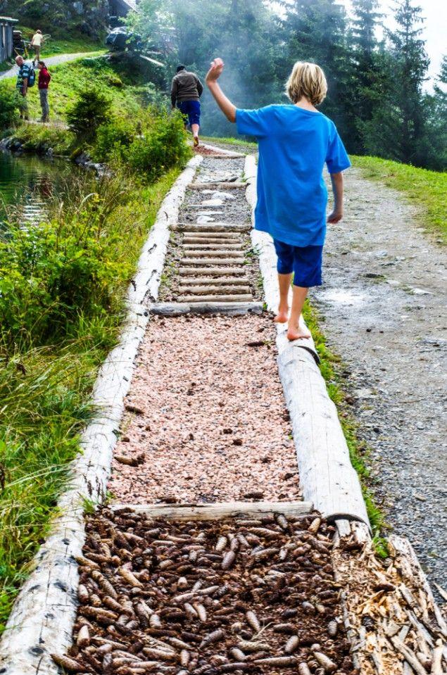barefoot walk engelberg sensory path Детский участок pinterest