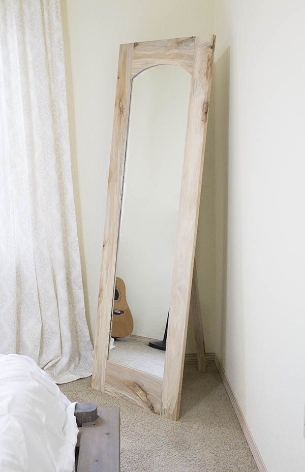 How To Arched Floor Mirror With Freestanding Option Diy Floor