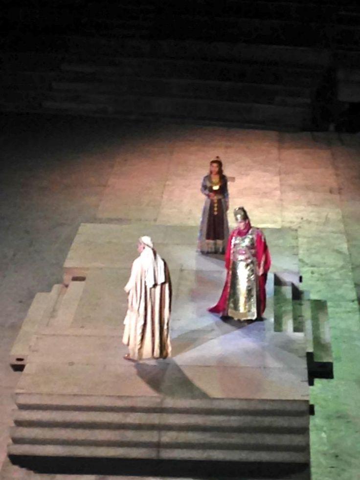 #Nabucco il ricatto amoroso di Abigaille, ma Ismaele non ci sta... #inarena #opera