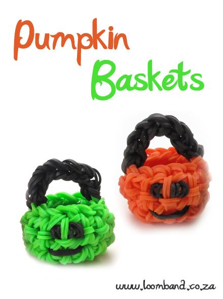 3D Pumpkin basket loom band tutorial http://loomband.co.za/3d-pumpkin-basket-loom-band-tutorial/