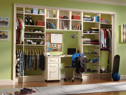 Kids Closet Organization System | houseplansandmore.com
