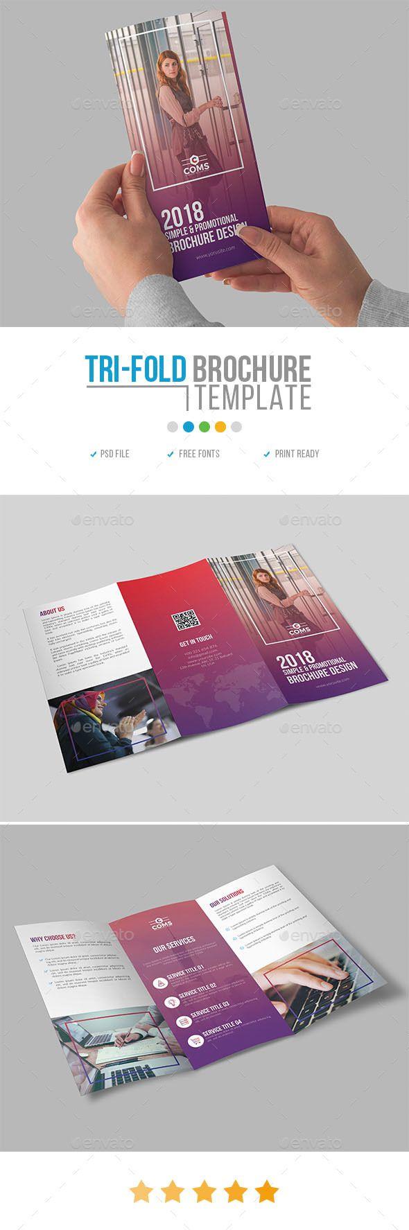 Corporate #Trifold #Brochure Template 26 - Corporate Brochures