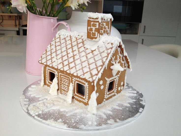 This years ginger bread house is all done- basic kit then embellished by hand