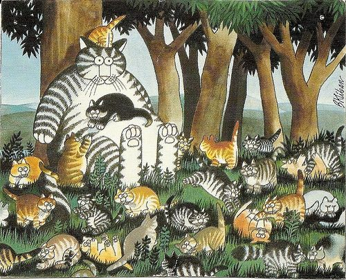 Kliban cat with many kittens by DeeDeeQ5724, via Flickr