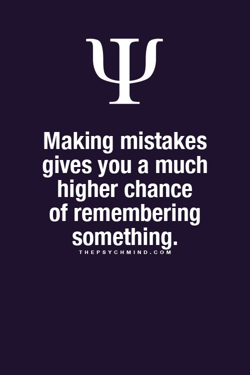 Mistakes & Memory Reaffirms that graded and corrected papers help students to see where they went wrong---and remember not to do it again. Always go over over past homework--its another chance to learn.