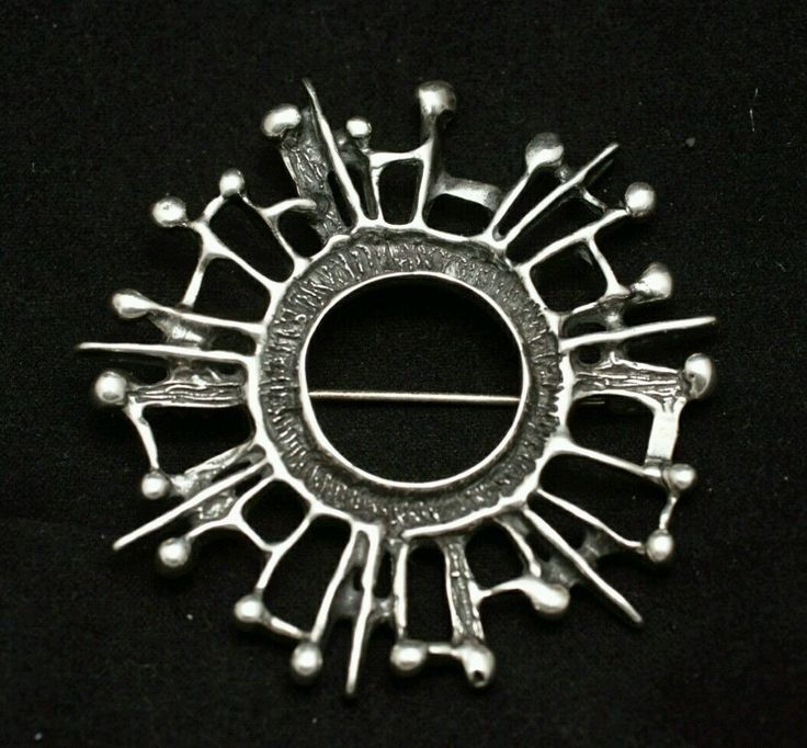 Uni David Andersen Vintage Norwegian Sterling Silver Brooch by UNN Tangerud