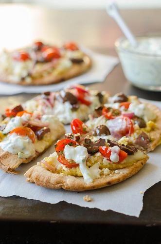 Greek Pita Pizzas | Food | Pinterest