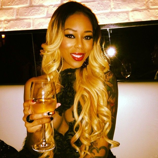 The Love And Hip Hop Star Shows Off Some Cleavage And Her Black