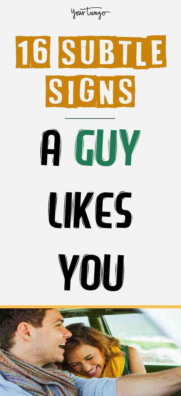 16 Subtle Ways He Tells You He Likes You | be strong | Signs guys