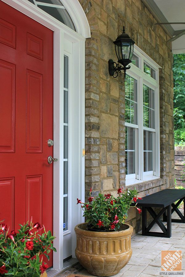 Behr S Awning Red Is A Classic Choice For A Front Door