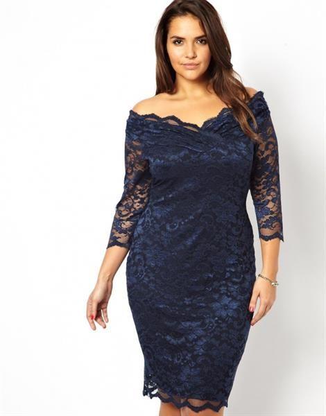 Тёмно синее платье для полных