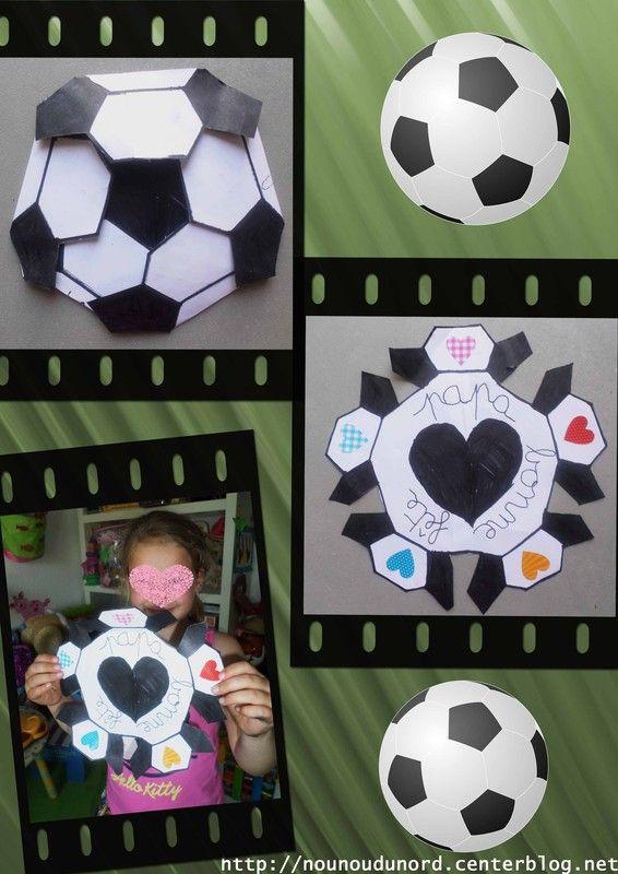 Carte ballon de foot pour la fête des pères