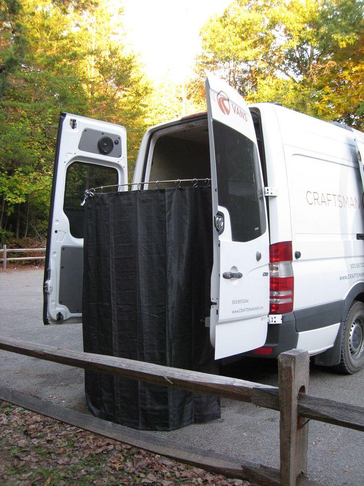 Boondocker-in-action Photos - Craftsman Vans.  privacy curtain