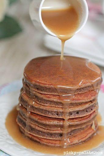 Chocolate Eggnog Baby Pancakes Recipe on Yummly. @yummly #recipe ...