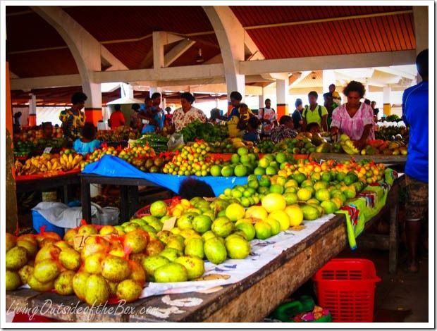 Produce at Large local market in Port Vila, Vanuatu