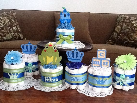 little prince baby shower | Little Prince Baby Shower Diaper Cakes Centerpieces other colors and ...