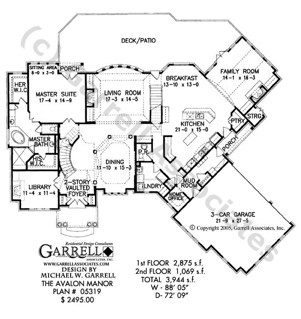 Avalon Manor House Plan No. 05319