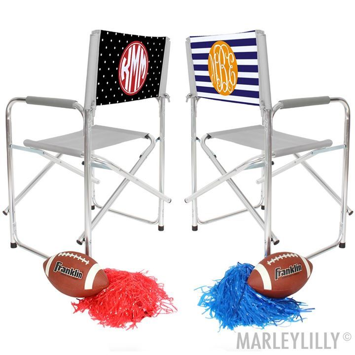 Feel like a director or a number one fan in your team's colors on the cutest tailgate chair ever!! We aren't biased 😉 Marked down to $29.99! #Fashion #Jewelry #Shopping #Deals #Love #Beauty#Art #Necklace #Pendant #learning #educational #games #toys #toddler#Christmas#Women#Men