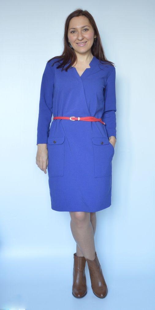 Надежда: Синее платье с накладными карманами / Blue Dress with Pockets   http://talentssister.blogspot.ru/2016/11/blue-dress-with-pockets.html