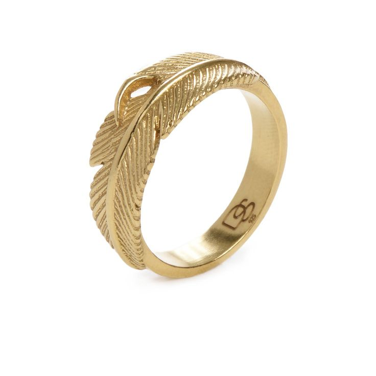 Gold Feather Ring - Degs & Sal