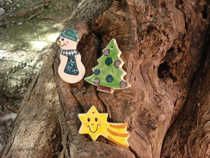 pupazzo di neve, stella,albero di natale, by Ceramiche di Mofy, 3,50 € su misshobby.com