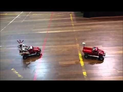 Motorised Pick Up Trucks with Mindstorms Robot #Rainbow_Bricks #lego #legoaustralia #legoaussiemoc #legotechnics #mindstorms