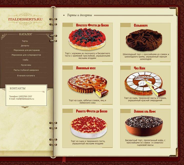 Итальянские десерты на итальянском языке