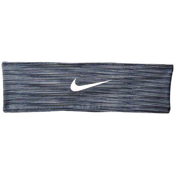 Nike Adjustable Fury Headband (Dark Grey/Wolf Grey/White) Athletic... (£13) ❤ liked on Polyvore featuring accessories, hair accessories, sports headbands, nike headband, sport headbands, nike hairband and hair bands accessories
