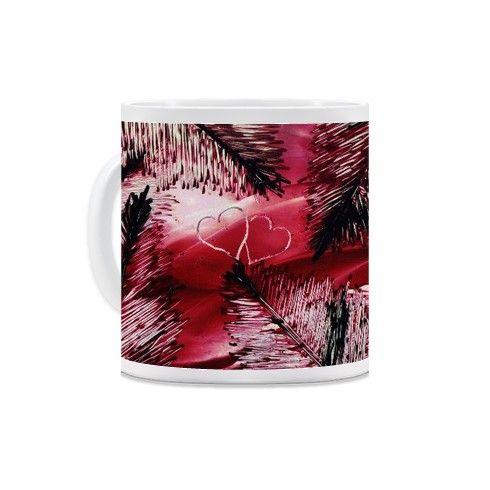 Red feathers Mug by inuro at zippi.co.uk