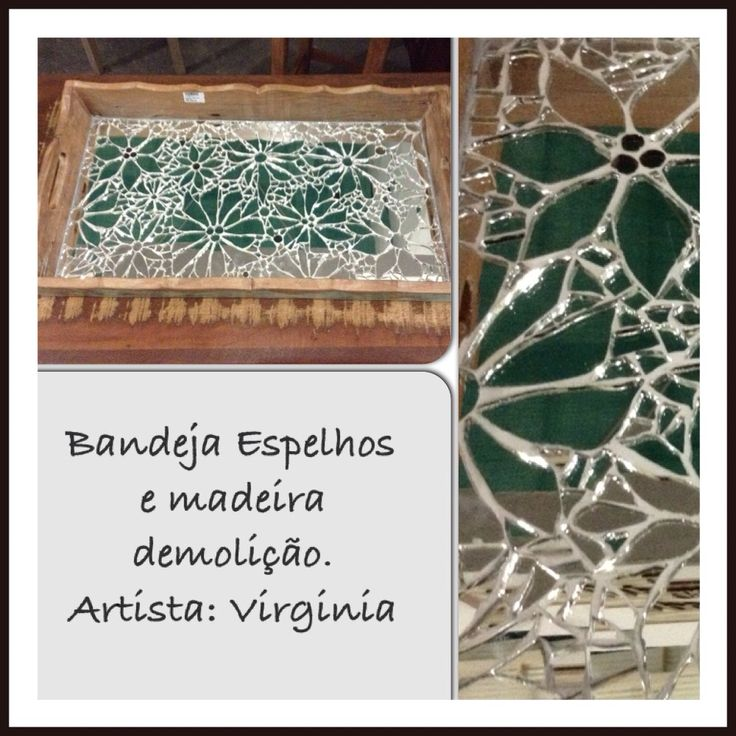 Bandeja mosaico espelhos