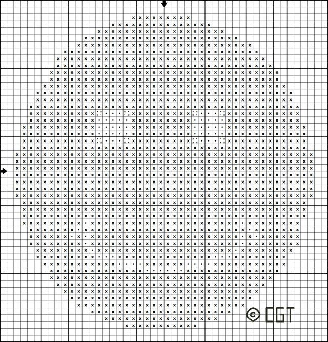 Stitch this free Smiley-Face Motif Cross Stitch pattern for a pin, bookmark, or…